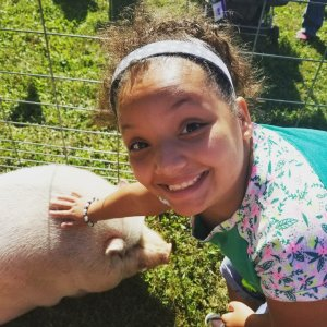 Lily and pig