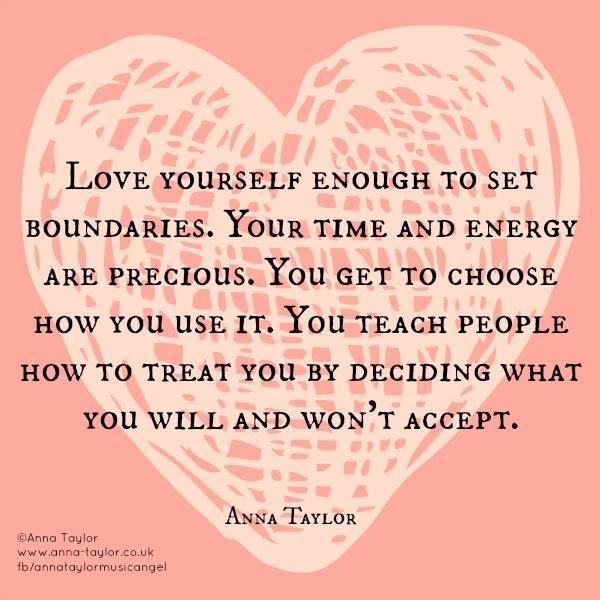 Relationships need boundaries