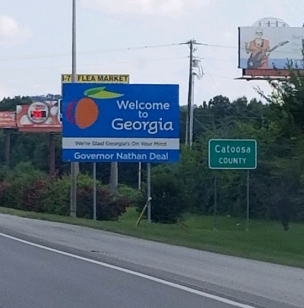 Georgia Welcome Sign